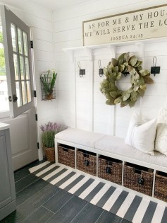 Awesome Farmhouse Mudroom Decorating Ideas To Try Asap 20