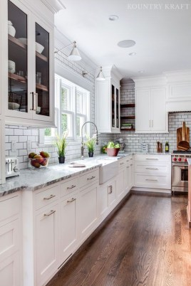Top White Kitchen Cabinetry Design Ideas That Looks More Modern 24