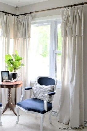Wonderful Farmhouse Curtains Decor Ideas For Living Room To Try Asap 07
