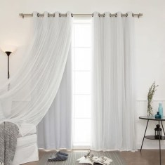 Wonderful Farmhouse Curtains Decor Ideas For Living Room To Try Asap 20