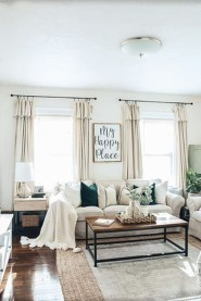Wonderful Farmhouse Curtains Decor Ideas For Living Room To Try Asap 43