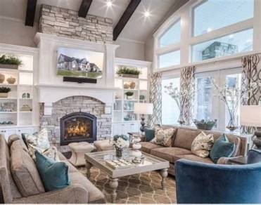 Amazing Small Living Room With Vaulted Ceiling 11
