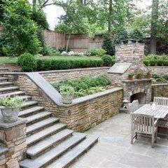 Totally Cute Sloped Backyard Landscaping Ideas 40