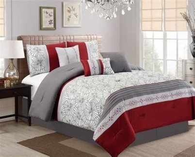 Awesome Burgundy And Grey Bedroom Ideas 13