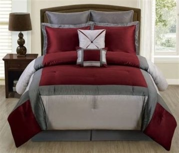 Awesome Burgundy And Grey Bedroom Ideas 32