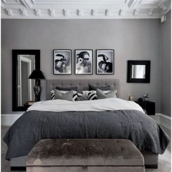 Awesome Burgundy And Grey Bedroom Ideas 37