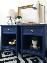 Cool Navy Painted Bedroom Furniture Ideas 11