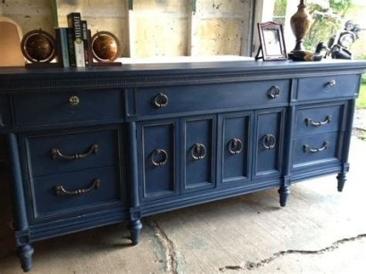 Cool Navy Painted Bedroom Furniture Ideas 16
