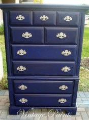 Cool Navy Painted Bedroom Furniture Ideas 27
