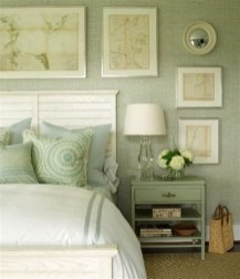 Creative Sage Green Accent Wall Bedroom Ideas 17