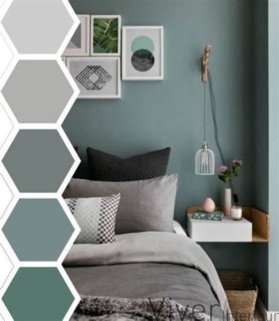 Creative Sage Green Accent Wall Bedroom Ideas 21