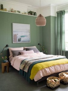 Creative Sage Green Accent Wall Bedroom Ideas 30