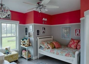 Lovely Two Tone Bedroom Paint Ideas 07