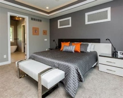 Lovely Two Tone Bedroom Paint Ideas 27