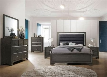 Totally Cute Charcoal Grey Bedroom Set Ideas 18