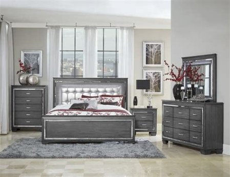 Totally Cute Charcoal Grey Bedroom Set Ideas 19