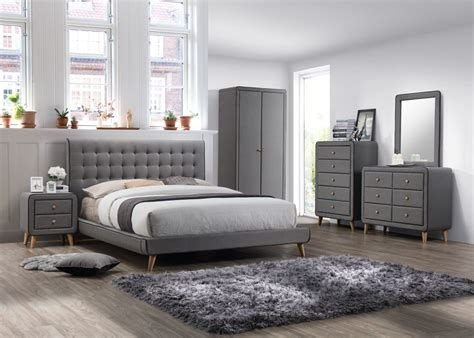 Totally Cute Charcoal Grey Bedroom Set Ideas 23