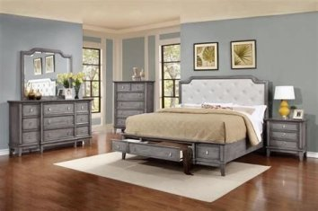 Totally Cute Charcoal Grey Bedroom Set Ideas 26