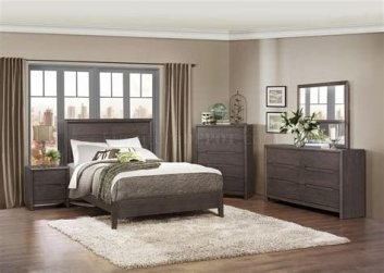 Totally Cute Charcoal Grey Bedroom Set Ideas 29