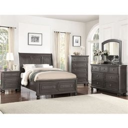 Totally Cute Charcoal Grey Bedroom Set Ideas 37