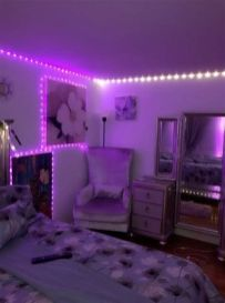 Most Popular Aesthetic Room With Led Lights Ideas 06