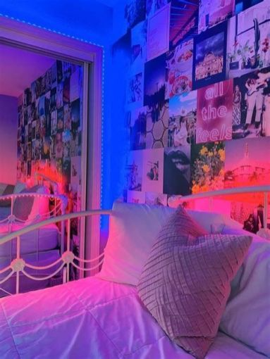 Most Popular Aesthetic Room With Led Lights Ideas 33