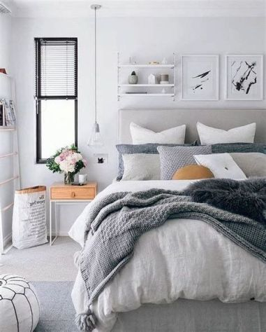 Awesome Grey And White Bedroom Ideas 12