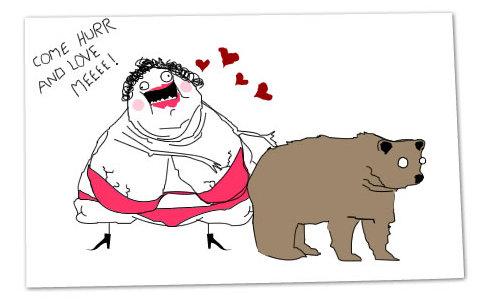 Your mother and the kodiak bear