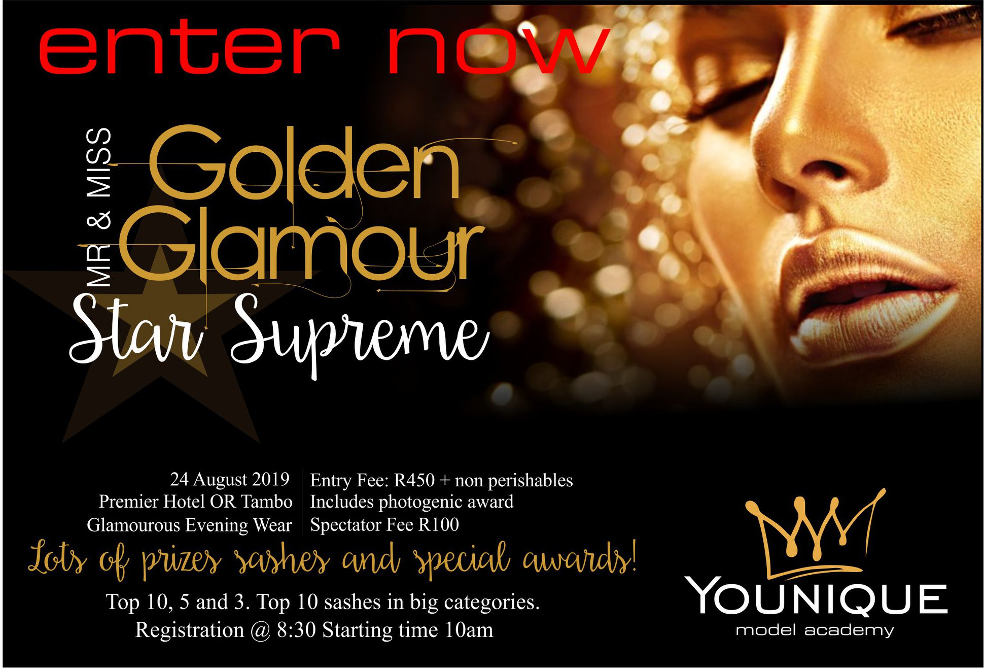 Mr and Miss Golden Glamour Star Supreme