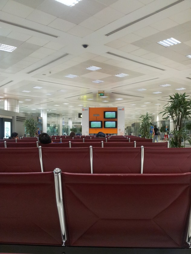 Empty Doha airport.