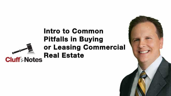Common Pitfalls in Commercial Real Estate Cluff Law