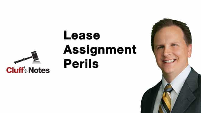 Lease Assignment Perils Cluff Law