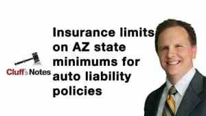 Insurance limits on AZ state minimums for auto liability policies