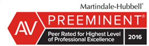 Cluff Law, plc has been awarded highest level of professional excellence.