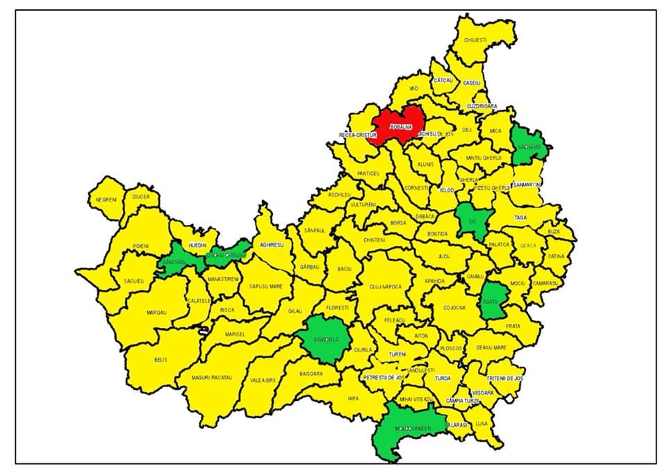 Harta Judetului Cluj Alegeri 10 Nov 2019 Cluj Am