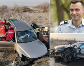 """(Foto) Accident Cluj. Paramedic erou. ISU: """"Ionuț ieșise din tură în această dimineață și se îndrepta spre București, când a observat că ..."""" 3"""