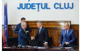"""Cluj. 1:45 minute în loc de 3 ore. Emil Boc: """"Acord de implementare a proiectului Electrificarea si reabilitarea liniei de cale ferata Cluj-Napoca - Oradea - Episcopia Bihor"""" 10"""