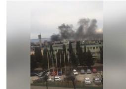 (Video) Incendiu Cluj. Arde o hala din incinta Sinterom 6