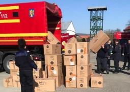 """ISU Cluj: """"Un camion al unității noastre a asigurat transportul de la aeroportul Otopeni a cca 5000 de costume de protecție, măști de protecție tip FFP2/FFP3 și dezinfectați, pentru a fi distribuite spitalelor și instituțiilor din județul Cluj"""" 6"""