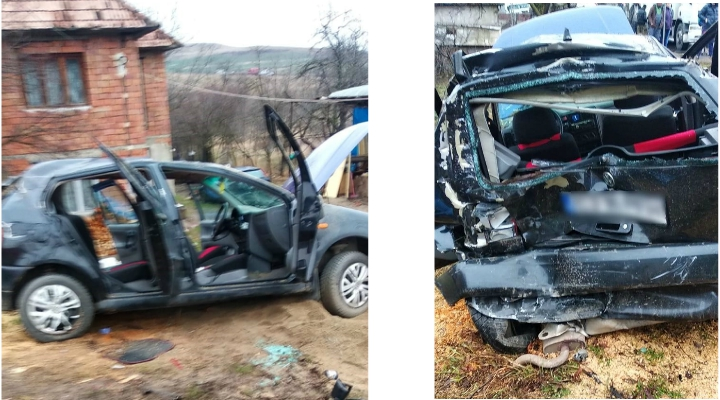 (Foto) Accident Cluj. Patru autovehicule s-au ciocnit la Vâlcele. Două persoane au fost transportate la spital 2