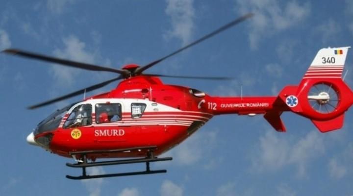 Cluj: Tânăr de 23 de ani dus cu elicopterul SMURD la spital după ce s-a rănit grav în timp ce desfășura activități agricole 1