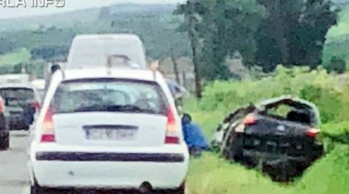 (Video) Cluj. Accident la Iclod, o persoană a fost rănită 1