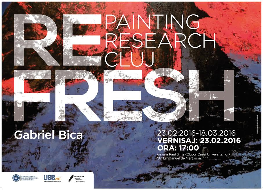 """REFRESH – PAINTING/ RESEARCH/ CLUJ"""