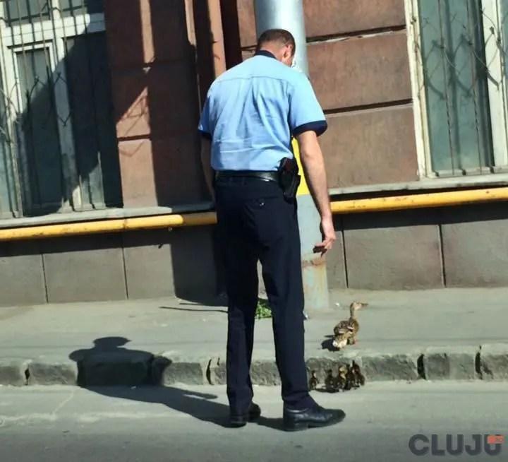 politist cluj gest rata strada