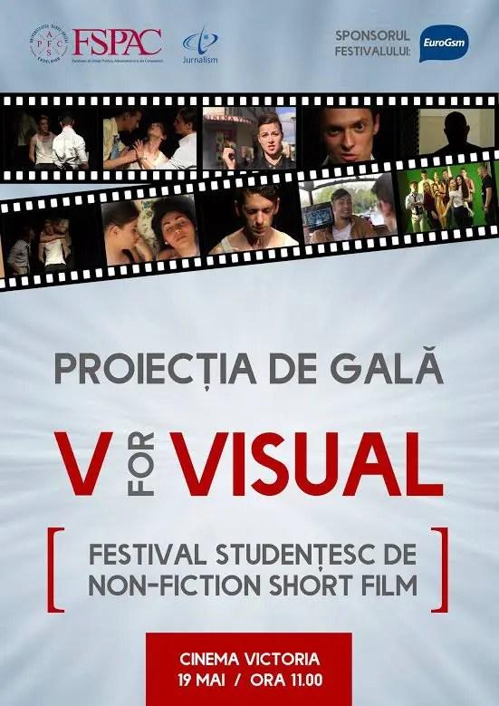 """estivalul studențesc de producție vizuală non-ficțională """"V for Visual"""""""