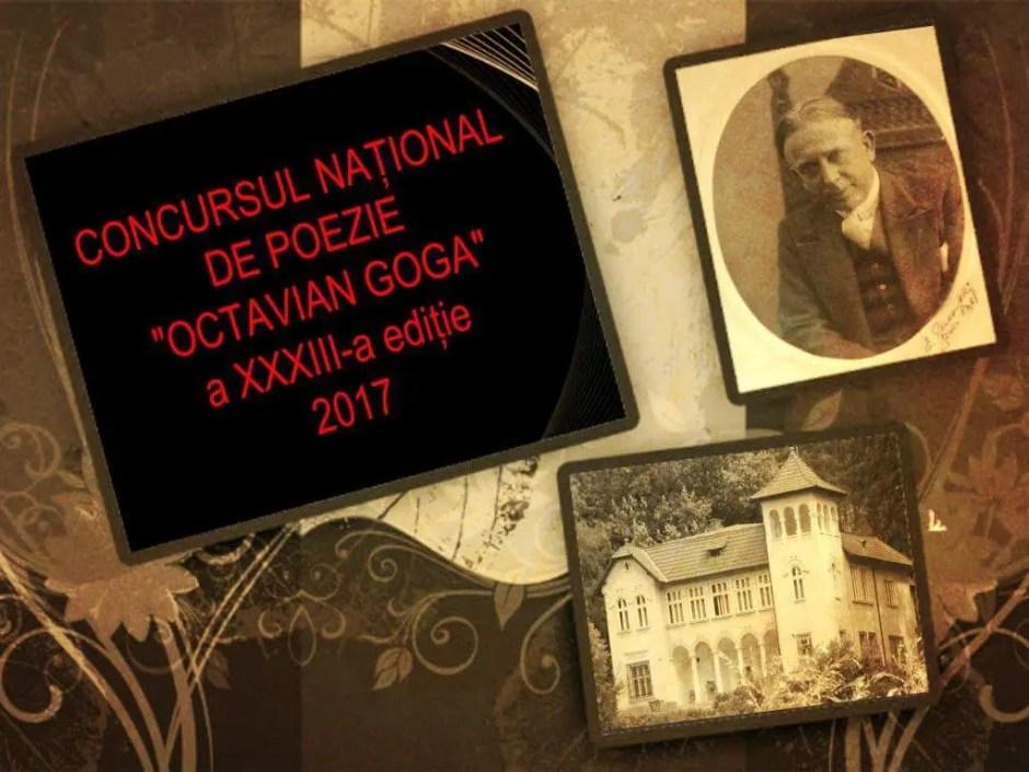 """Concursul Național de Poezie """"Octavian Goga"""""""