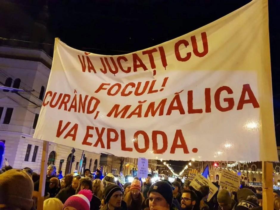 protest cluj 23 decembrie