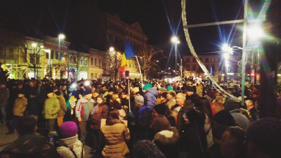 protest cluj 20 ianuarie 2018
