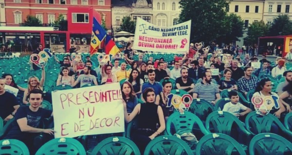 Protest în Cluj-Napoca, după decizia CCR privind revocarea şefei DNA, Laura Codruta Koveşi