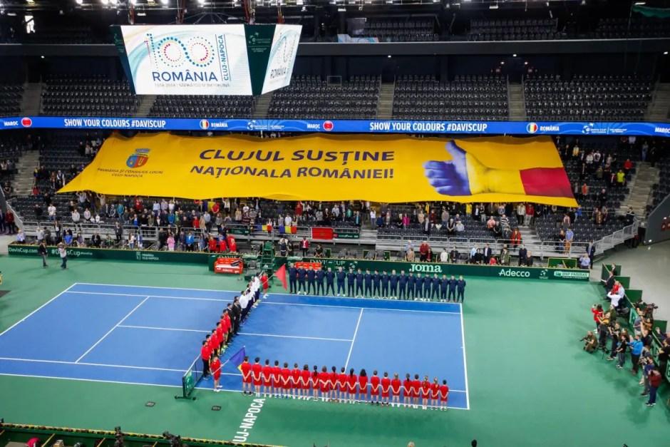 Meciul România - Polonia din cadrul Cupei Davis se va juca la Cluj- Napoca, pe zgură